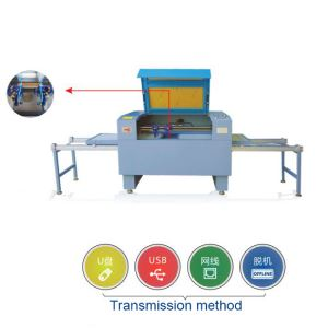 Leather Laser Cutting Machine With Double Mesh Plate Interchange